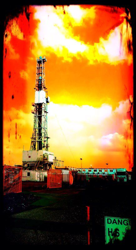 Drilling for gas