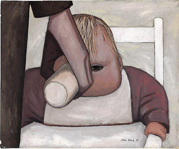 John Brack ~ The baby drinking, 1955