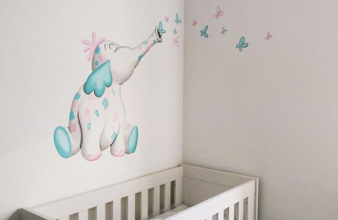 Uitgelezene muurschildering kinderkamer zelf maken - Google zoeken YO-66