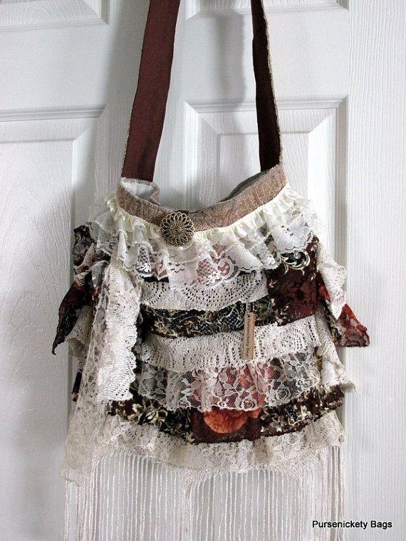 Large Romantic Handbag Gypsy Victorian Shabby by PursenicketyBags