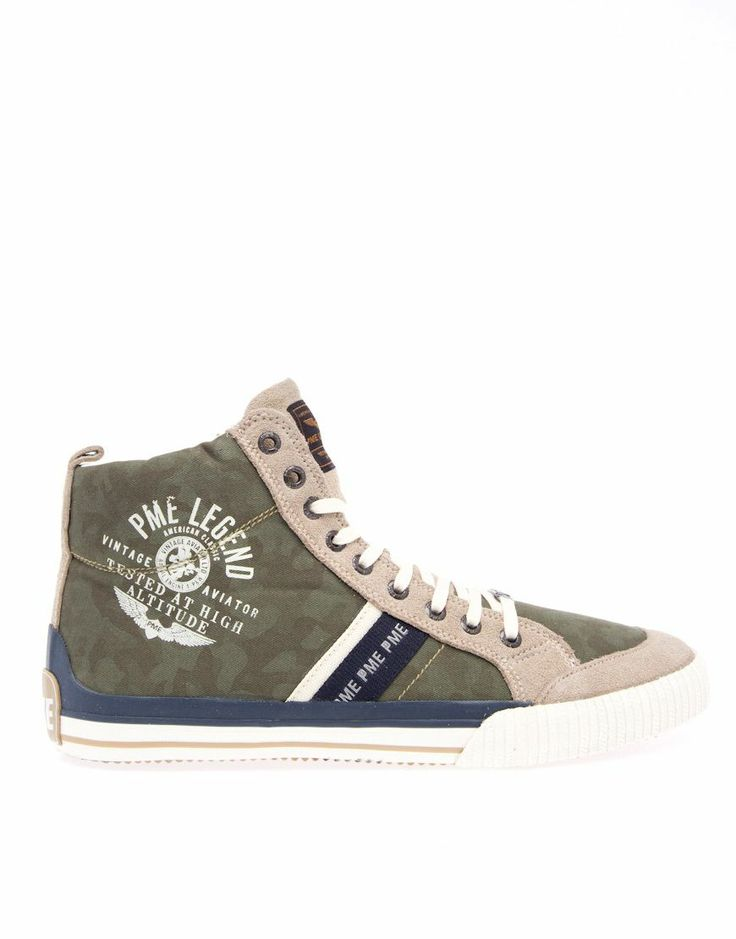 PME Legend Sneaker - Leather Aviator Khaki Camouflage