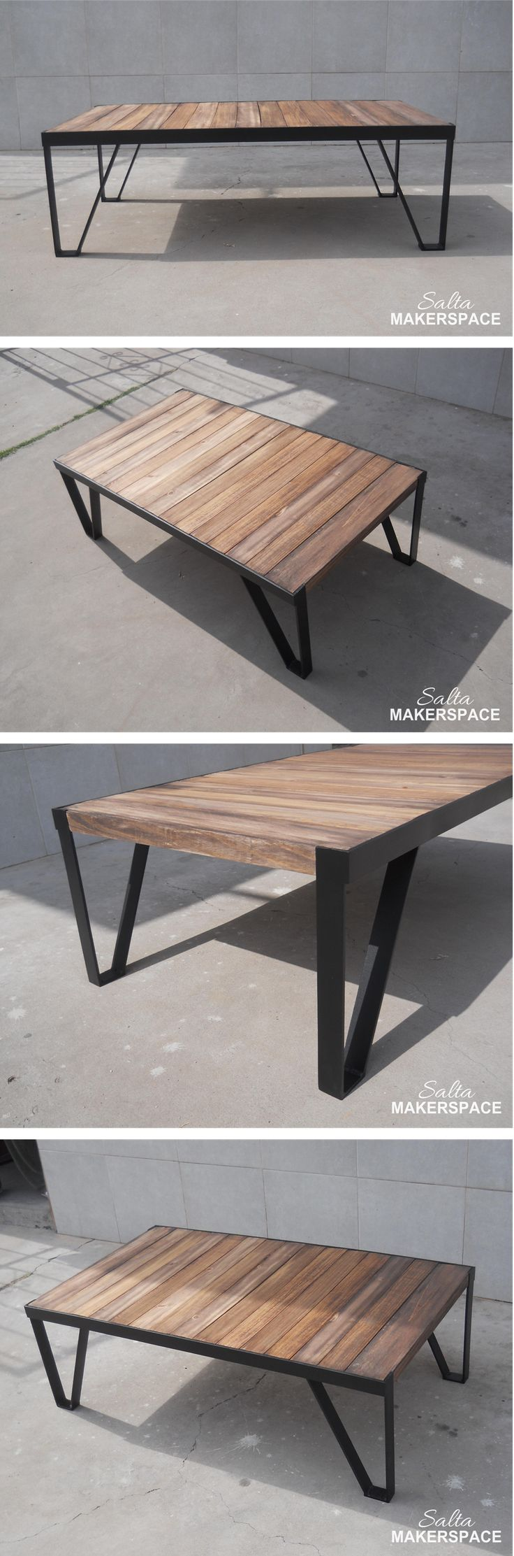 Mesa ratona - Estilo Industrial - por @josemariaga // #industrial #coffee #table