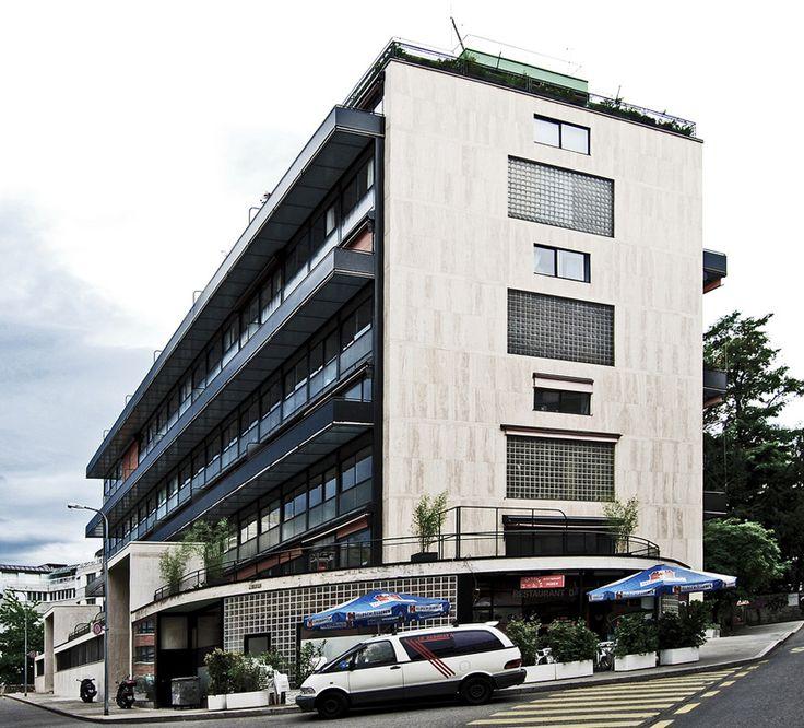 Ле Корбюзье / Le Corbusier. Многоквартирный дом Кларте (Immeuble Clarte), Женева, Швейцария. 1930