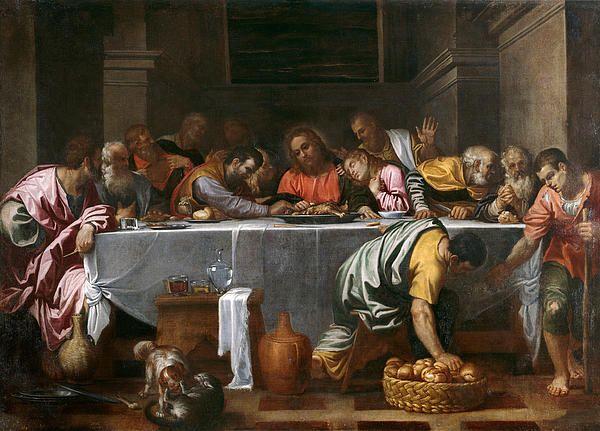 Last Supper  Agostino Carracc