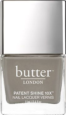 "butter LONDON ""Over The Moon"" : Opaque, Warm Grey Creme Patent Shine 10X Nail Lacquer"