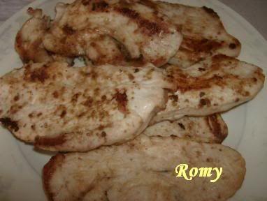 Bifes de perú com sopa de rabo de boi