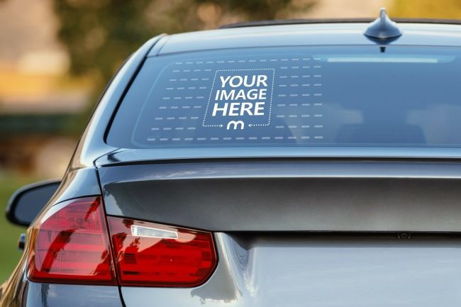 Make An Instant And Realistic Preview For Your Car Window Decal Sticker With This Mockup Generator Templat Car Decals Stickers Mockup Generator Decals Stickers