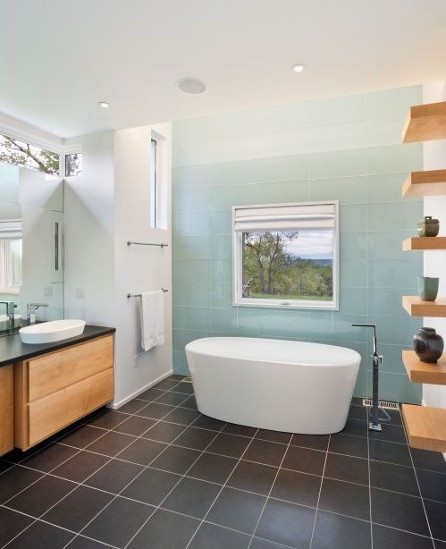 Free Standing Bath Tubs Bath Design, No Shower, Tile Feature Wall
