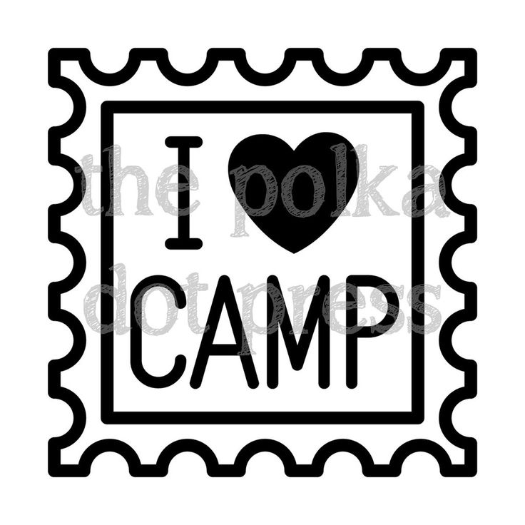 Vinyl Decal, I heart Camp; Decorate your camp trunk, laptop, car or anything with our exclusive vinyl decal.