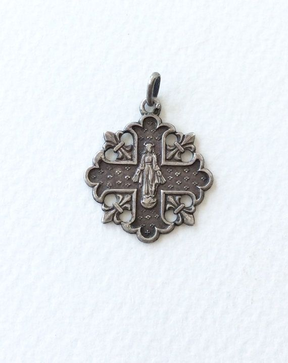 Antique French religious charm. Religious by SouthofFranceFinds