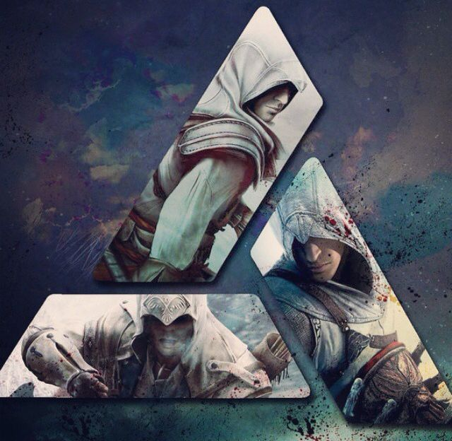 Altair, Ezio, and Connor - Assasin's Creed Main Trilogy