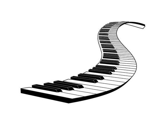 Piano Keyboard Music Performance Playing Classical Concert Symphony Svg Eps Png Vector Clipart Di Music Performance Music Keyboard Symphony