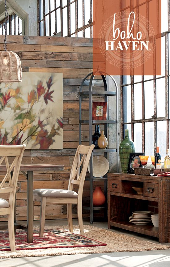 Boho Haven Dining Room Furniture And Accessories Relaxed Easygoing Style Ashley Furniture Boho Haven 174 Pinterest Dining Rooms