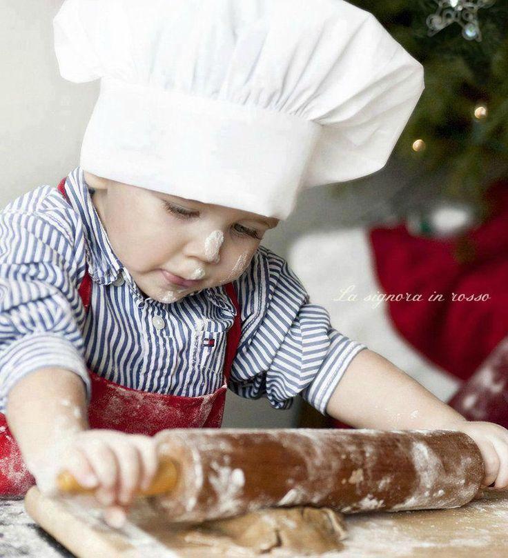 adorable child… little baker