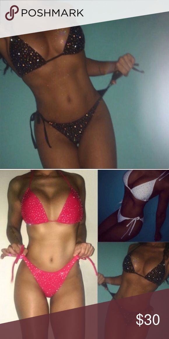 Swimsuit Triangle Swimwear Adjustable Bikini Women Bikini Set Swimsuit Triangle Swimwear Adjustable Bathing Suit Color: Black New in Fashion, Women fashion bikini sets Material: Nylon & Spandex Package included: 1x bikini set Size Chart :Bust:80-96cm, Waist:60-74c Swim