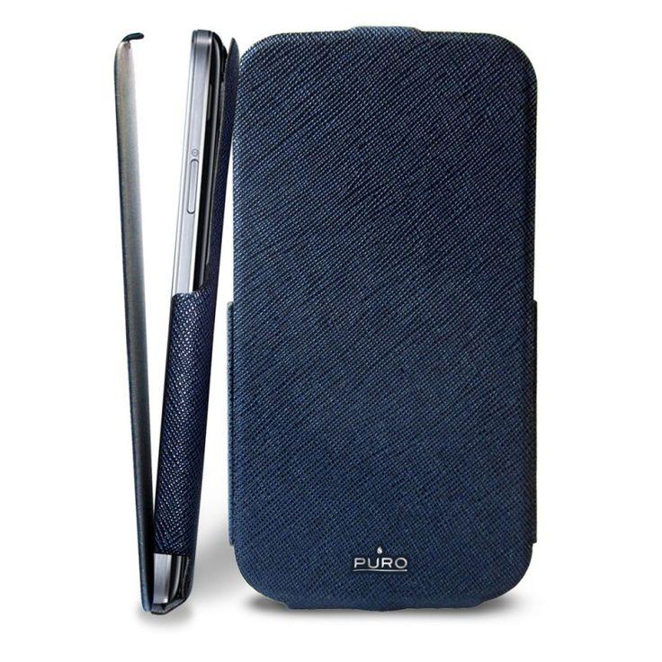 PURO Flipper Case [Blue], Futerał z klapką dla GALAXY S4