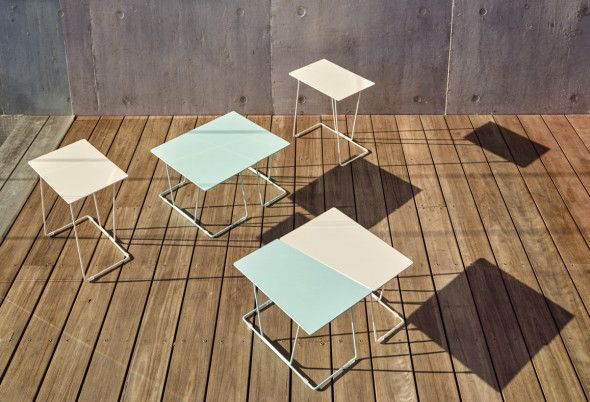 Tango tables - Developed by Schiavello in Australia, designed by Ivan Woods.