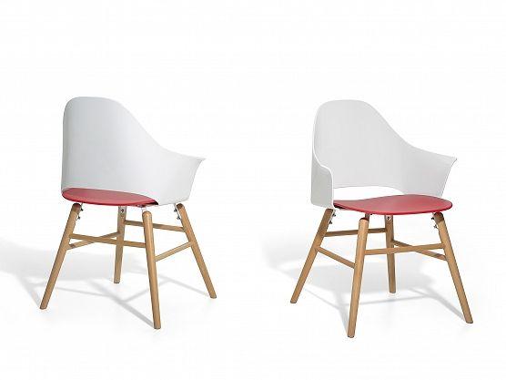 White and red wood chair https://www.beliani.ch/stuehle/gartenstuhle/stuhl-weiss-rot-esszimmerstuhl-schalenstuhl-essstuhl-boston.html
