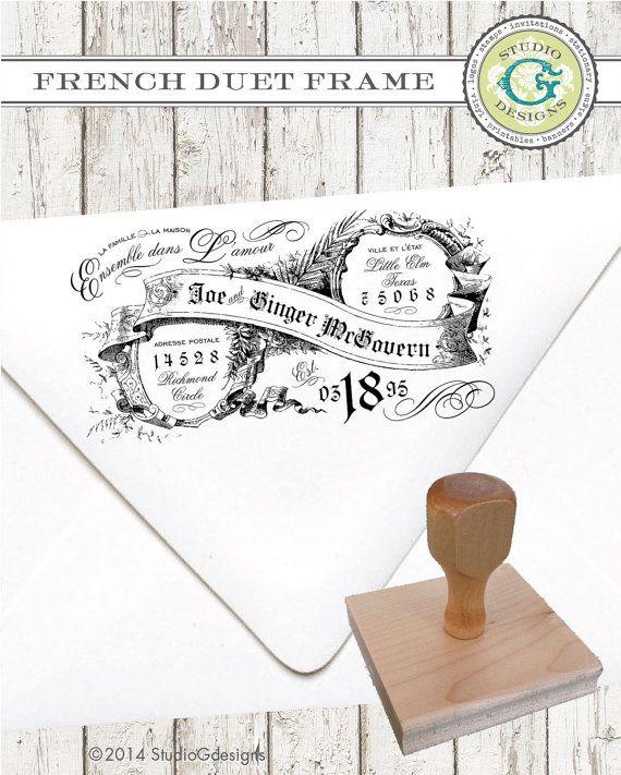 Absenderadresse Stamp  2 x 4 im französischen von studioGdesigns