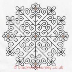 Geometric tangleEmbroidery Needlework, Crosses Stitches Embroidery, Biscornu, Persian Flower, Blackwork Patterns, Embroidery Blackwork, Bordados Embroidery, Fr0006, Persian Embroidery