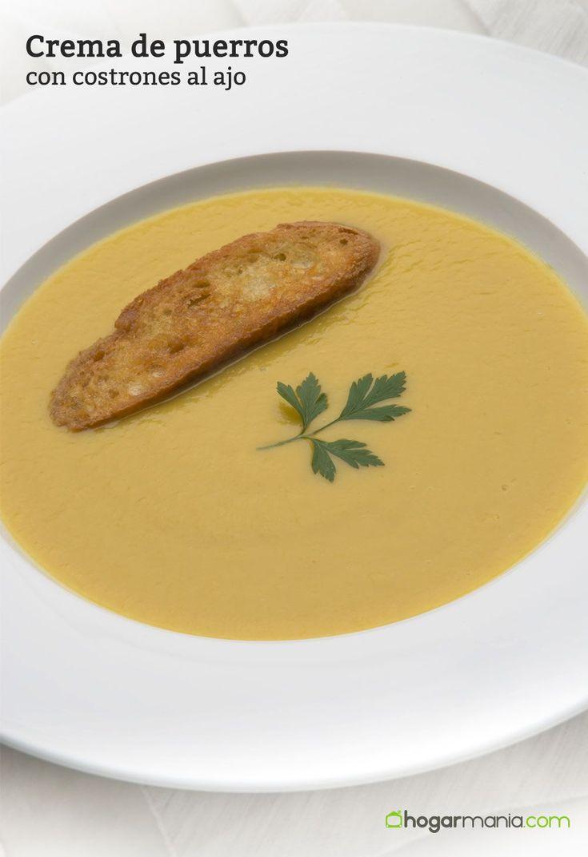 Karlos Arguiñano elabora una crema de puerros, zanahoria, calabaza y patatas y la acompaña con pan tostado al ajo, un plato vegetariano saludable.