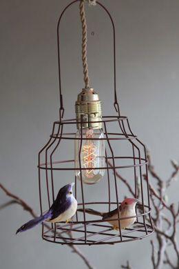 #Lamp van #vogelkooi #Hanglamp   Dutch dilight