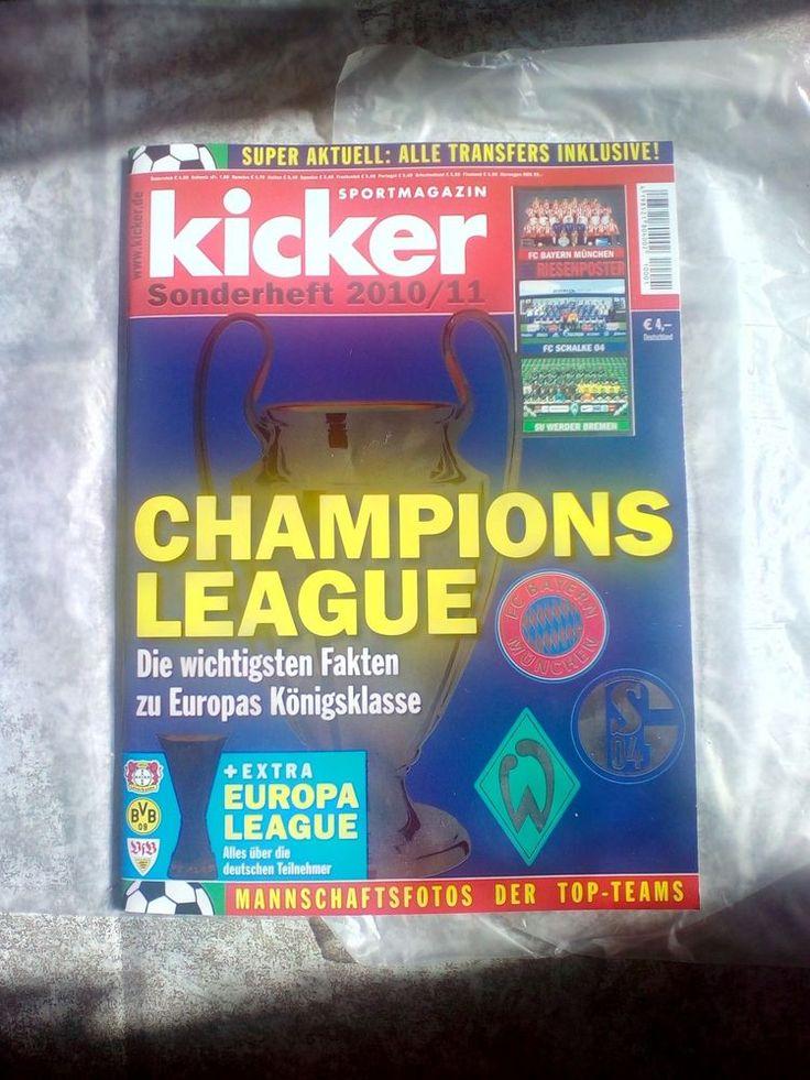 Kicker!Sportmagazin!CHAMPIONS LEAGUE!Sonderheft  2010/11!NEU!