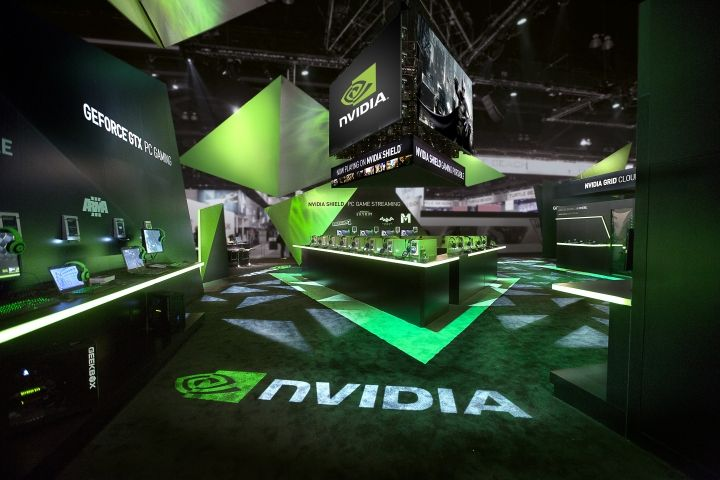 Exhibition Stand Display Lighting : Nvidia stand by astound group los angeles california