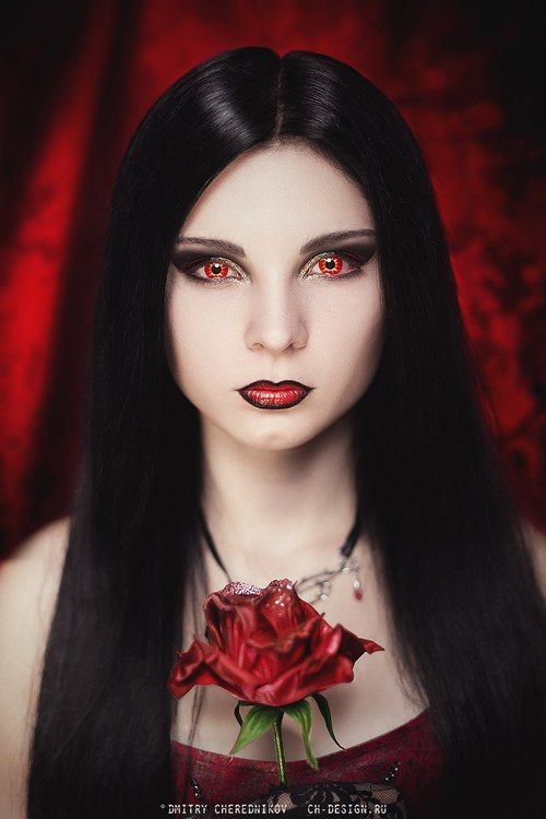 Red | Fantasy Forever | Pinterest | Red contacts, Goth art ... Gothic Vampire