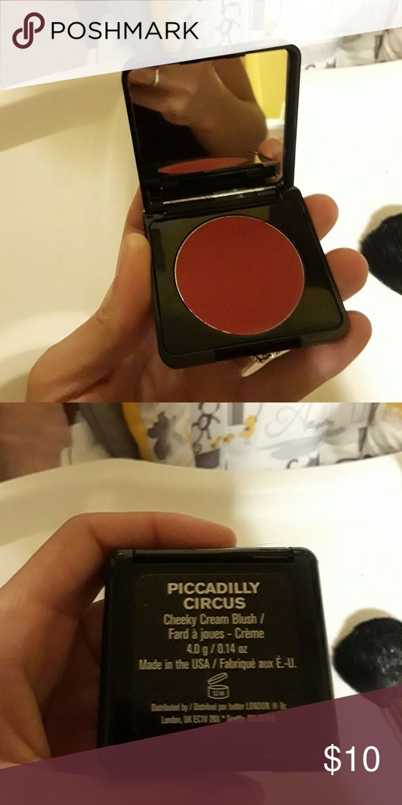 Butter London Cheeky Cream Blush swatched once Makeup Blush