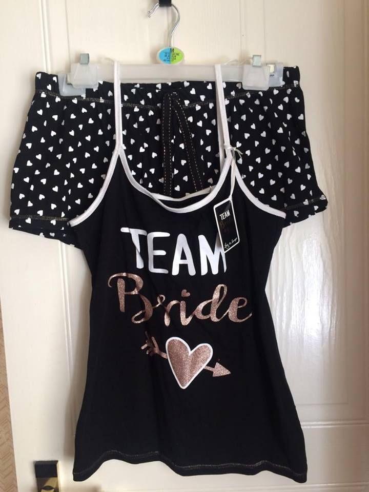 d349bcb43 Primark Ladies Team Bride Pyjamas Womens Bride Vest Shorts Hen Party Pyjamas