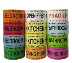 Smart Move color-coded packing tapes, four bedroom kit.