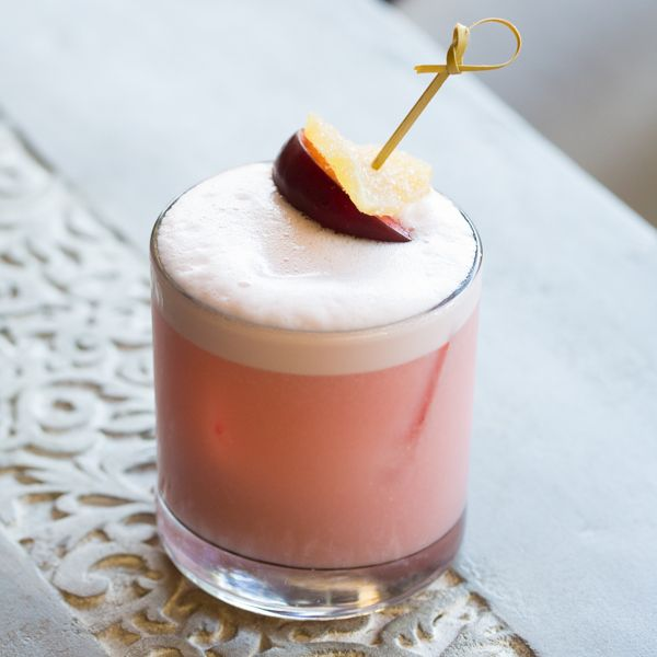 We've got a fabulous whiskey sour recipe today, the Plum Ginger Whiskey Sour. This light frothy sensation is bursting with fall flavors... Just the kind of