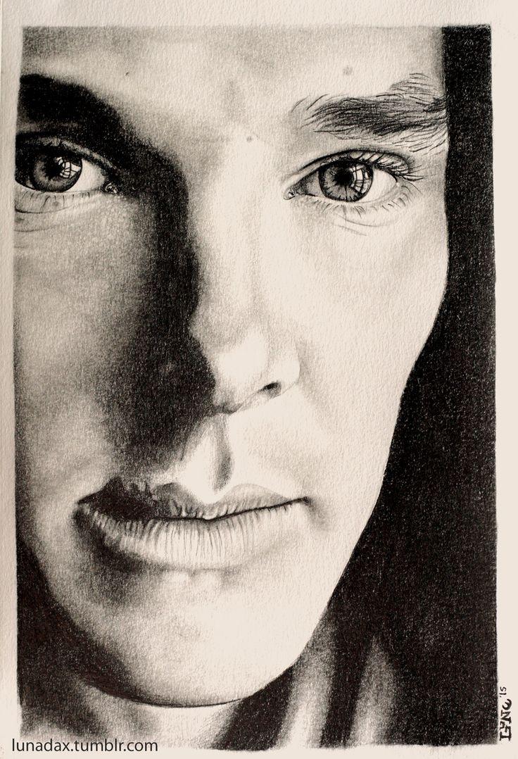 Benedict cumberbatch, Staedtler graphite pencils HB, 2B, 4B, 6B, 8B on Canson Bristol 8X10 white paper.