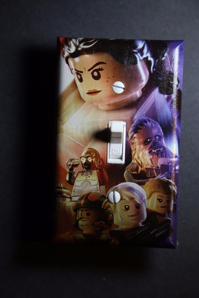 Details about Lego Star Wars Force Video Game Light Switch Cover gamer room decor ps4 ps3 xbox