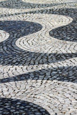 Lisbon cobblestone sidewalks #Portugal...we walked these streets! !! Beautiful