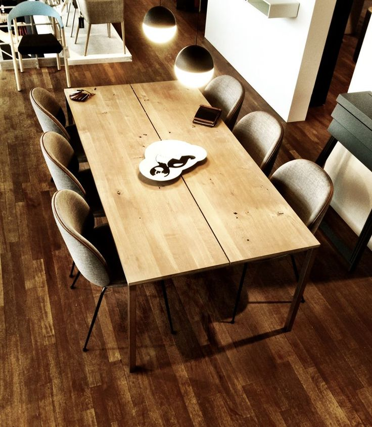 The dk3 Less Is More Table together with the Beetle Chair from Gubi seen at THORSEN MØBLER (Aarhus) in Denmark. www.dk3.dk