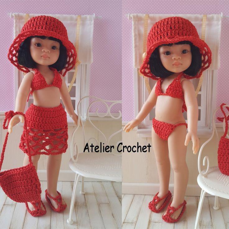 136- FICHE PATRON CROCHET Bikini pour poupée Paola Reina ou Chéries de Corolle : Jeux, jouets par atelier-crochet
