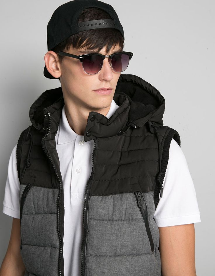 Bershka Japan - Hooded quilted vest