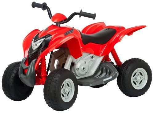 Kid Trax Honda 6V TRX700 Sport ATV, Red by Kid Trax. $130.97. Run time engine sound for battery life longevity. Soft comfort grip handles. Electronic engine and horn sounds with light up LED headlights. Kid Trax Power Trax rubber traction strip tires. Working front headlights. From the Manufacturer                The Honda TRX700xx Sports 6 volt ATV quad is designed from one of the most popular sport ATV brands and model. This quad is equipped with easy foot pe...