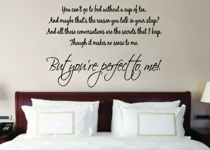 One Direction Perfect To Me Song Lyrics Music Wall Art Sticker
