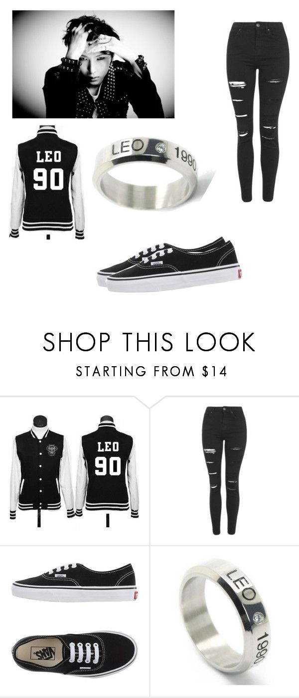 """""""VIXX Leo"""" by bts-got7-block-b ❤ liked on Polyvore featuring Topshop, Vans, LØMO, women's clothing, women, female, woman, misses and juniors"""