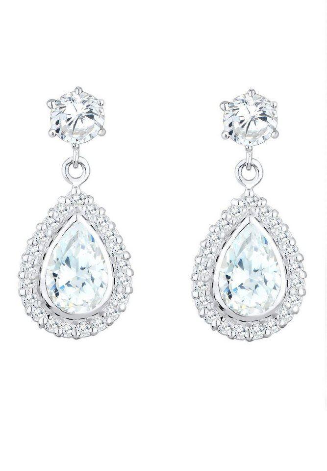 Elli Paar Ohrstecker »Tropfen, 0311961313«, mit Zirkonia für 59,90€. Glamouröse Ohrringe mit Hänger in Tropfenform, Aus Silber 925 bei OTTO