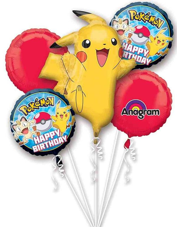 Pokemon Balloon Bouquet, Pokemon Party Ideas via Pretty My Party