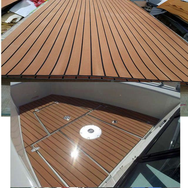 Online Shop Marine Boot Eva Teak Decking Sheet Donkerbruin Met Zwarte Streep 47 X 94 1 4 Aliexpress Mobile 11 11 Double Boat Building Outdoor Decor Boat