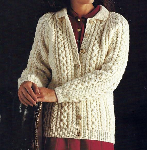 Lovely double knitting pattern for lady/'s cardigan in sizes 32-42 inch