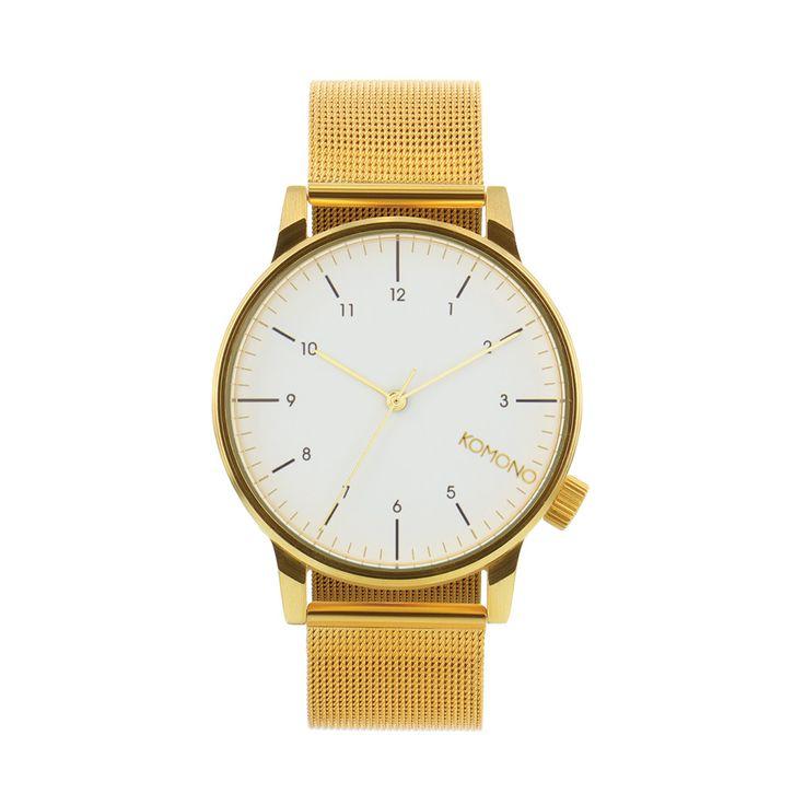 Zegarek Komono Winston Royale Gold White