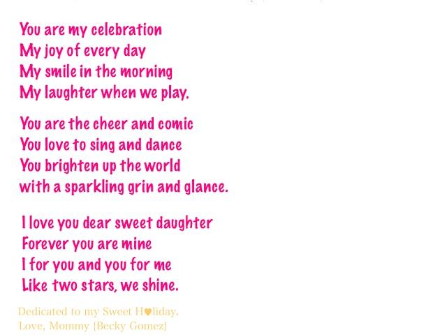 Poem for My Teenage Daughter | love poem poetry for ...