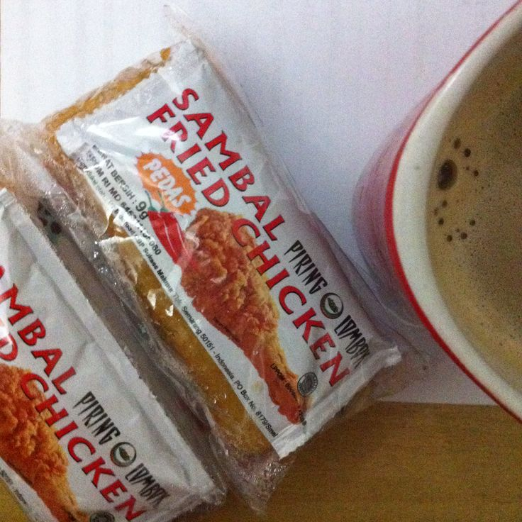 My fave daily breakfast: 2 yummy risol mayo and a cup of instant white coffee :)