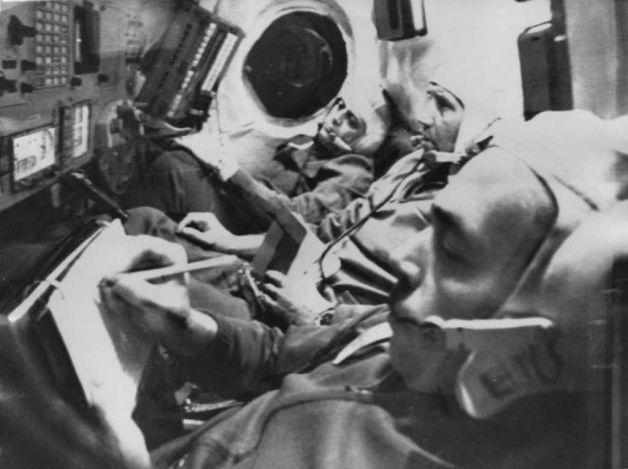 Soyuz 11 cosmonauts Georgi Dobrovolski, Vladislav Volkov and Viktor Patsayev. All three died when their capsure depressurized during reentry.(Keystone, Getty Images)